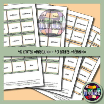Memory Game to teach French/FFL/FSL: Métiers/Jobs