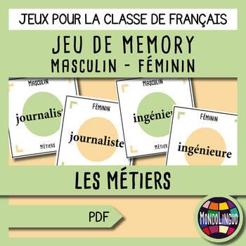 French/FFL/FSL - Games - Memory - Jobs