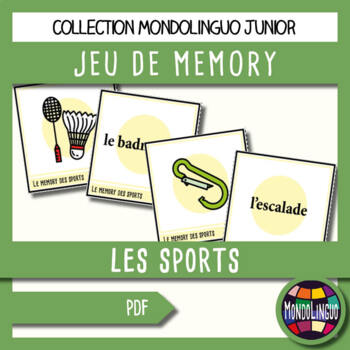 Memory Game to teach French/FFL/FSL: Sports