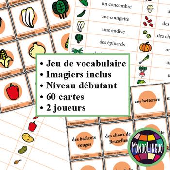 Memory Game to teach French/FFL/FSL: Légumes/Vegetables