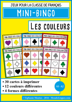 French/FFL/FSL - Games - Mini bingo - Colors