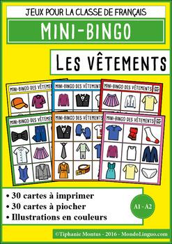 French/FFL/FSL - Games - Mini Bingo - Clothing