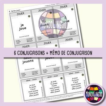 Card game to teach French/FFL/FSL: 7 familles - Verbs 1 - Présent