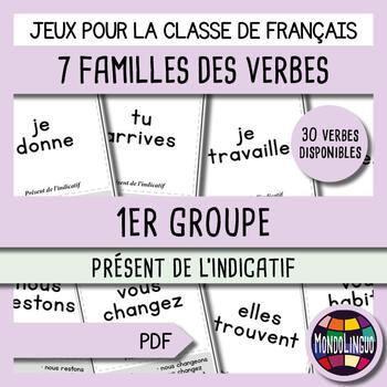 French/FFL/FSL - Games - Seven Families - Verbs 1