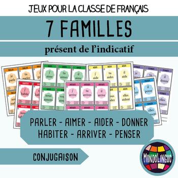Card game to teach French/FFL/FSL: 7 familles - Verbs 2 - Présent