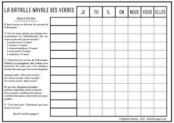 French/FFL/FSL - Games - Verb battleship