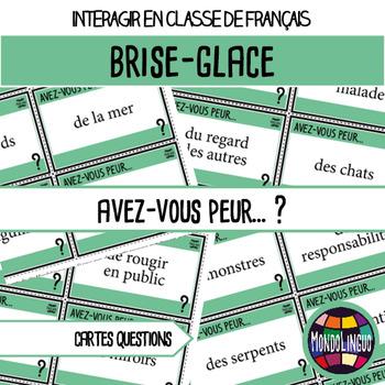 Icebreaker to teach French/FFL/FSL: Avez-vous peur de... ?/Are you afraid of...?