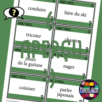 Icebreaker to teach French/FFL/FSL: Savez-vous...?/Do you know how... ?
