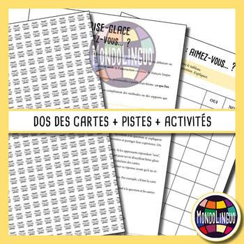 Icebreaker to teach French/FFL/FSL: Vous aimez.... ?/Do you like... ?
