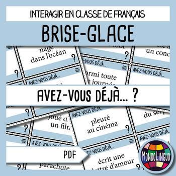 Icebreaker to teach French/FFL/FSL: Avez-vous déjà...?/Hav