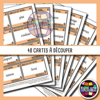 Icebreaker to teach French/FFL:Quel est ton...préféré ?/What is your favorite..?