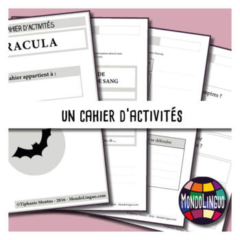 Activity book in French/FFL/FSL about Dracula - MP3 included