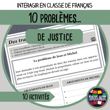 Role playing situations in French/FFL/FSL - Justice Problems