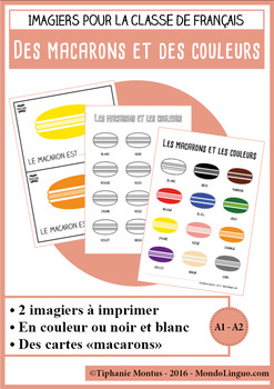 French/FFL/FSL - Vocabulary - Macarons et couleurs