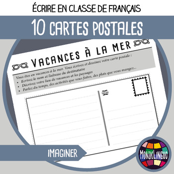French/FFL/FSL - Writing - 10 Post Cards to write
