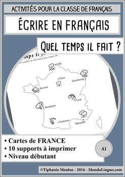French/FFL/FSL - Writing - Describe the weather in France