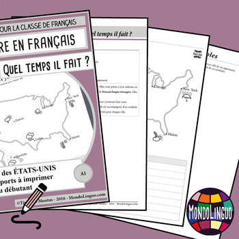 Writing in French/FFL/FLS - Cartes Etats-Unis/Weather in the USA