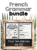 French FLE Grammar Bundle (With Google Slides for Distance