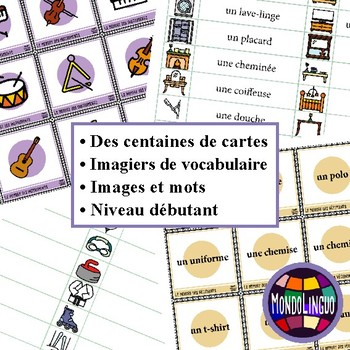 French/FLS/FLE : BUNDLE - 8 memory games/Vocabulary