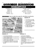 French FOLLOWING DIRECTIONS #1 on a city map interp. reading