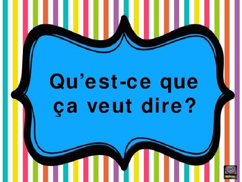French FREEBIE Classroom Posters - French only version!