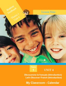 French FSL: Lesson 9: My Classroom: Calendar (Canada & USA)