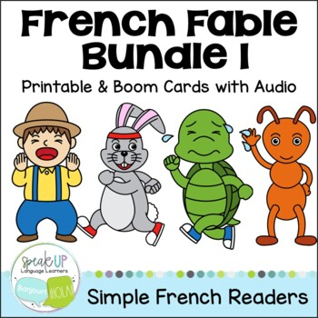 French Fable Readers {Bundle #1} & Sentence forming pages