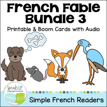 French Fable Readers {Bundle #3} & Sentence forming pages