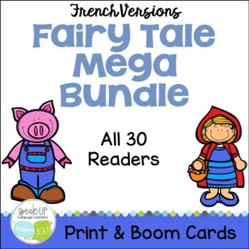 French Fairy Tale 30 Reader MEGA BUNDLE & Sentence forming pages