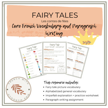 French Fairy Tale Creation - Sentence Building Practice // Les contes de fees