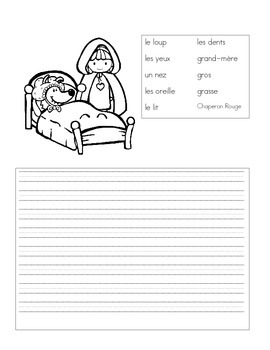 French Fairy Tale Writing Prompts Little Red Riding Hood - Petit Chaperon Rouge