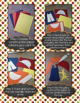 French Fall Activity - Scarecrow CRAFTIVITY (Activité pour l'automne)