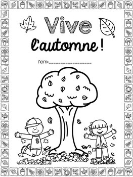 French Fall Autumn Literacy Activity Pack (l'automne)