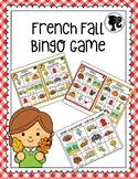French Fall Bingo Game - Bingo d'automne