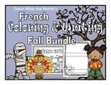 French Coloring & Writing Fall Bundle