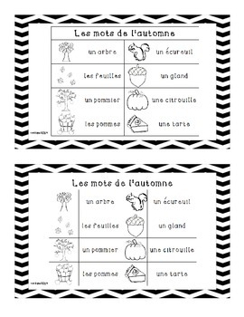 """French Fall Emergent Reader """"C'est l'automne!"""""""