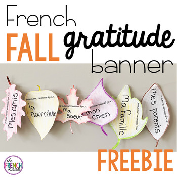 French Fall Gratitude Banner Freebie By The French Nook Tpt
