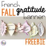 French Fall Gratitude Banner FREEBIE