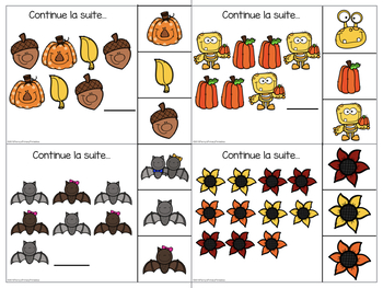 French Fall Math Centres- L'automne