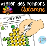 French Fall Pompons center/ Atelier des pompons (Automne)