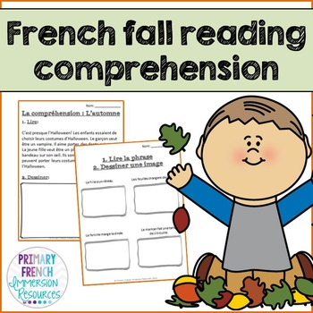 french fall reading comprehension worksheets la compr hension l 39 automne. Black Bedroom Furniture Sets. Home Design Ideas