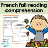 French – Fall Reading Comprehension Worksheets - La compré