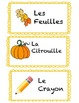 French Fall Word Cards