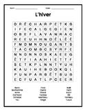 French Winter Word Search - Mots cachés français sur l'hiver