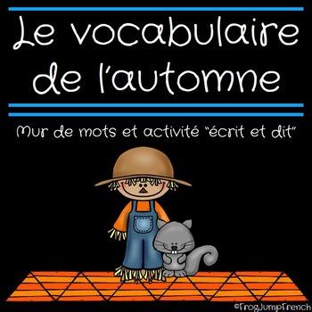 Mur de mots de l'automne // French Fall Word Wall