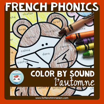 French Fall Worksheets Color by Sound | Automne | French Phonics Practice