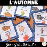 "French Fall (automne) - jeu ""j'ai... qui a...?"" game"