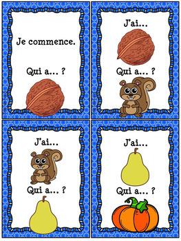 "French Fall (automne) - jeu ""j'ai... qui a...?"" game"