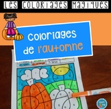 French Fall color by code / Coloriages magiques {automne}