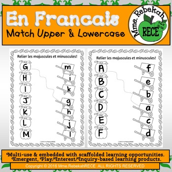 French Fall or Halloween Activity Letter Matching